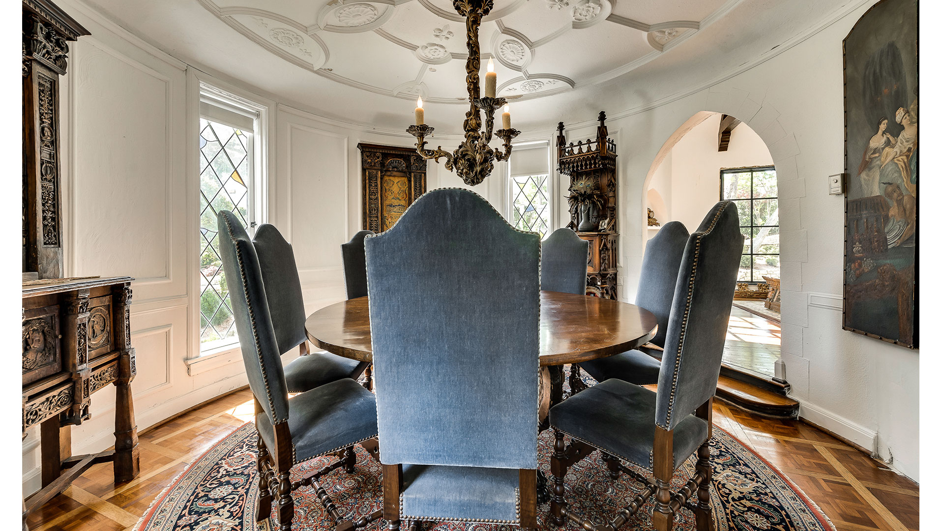 Southern Living Dallas Chateau Des Grotteaux Dining Room