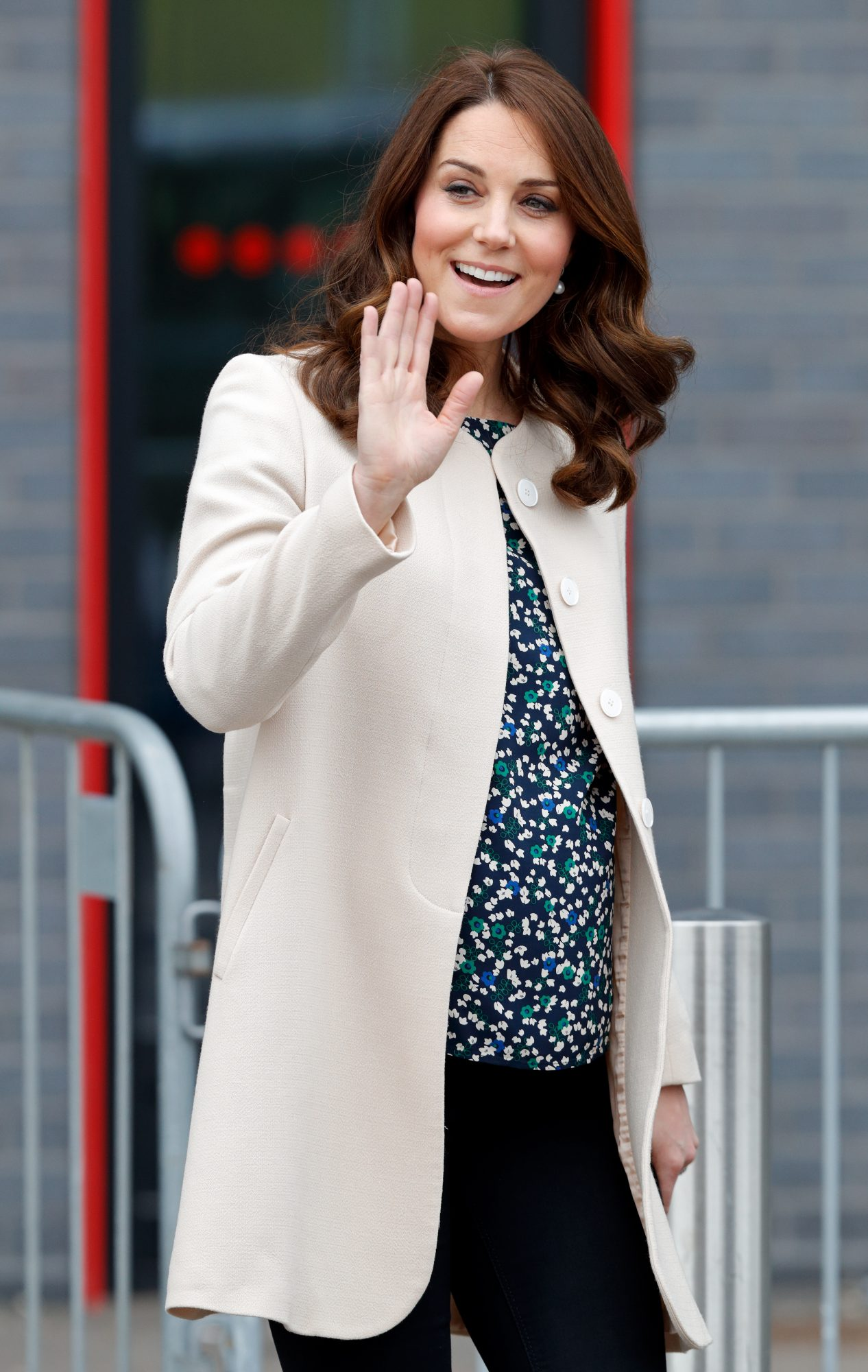 Princess Kate Middleton in Tan Coat