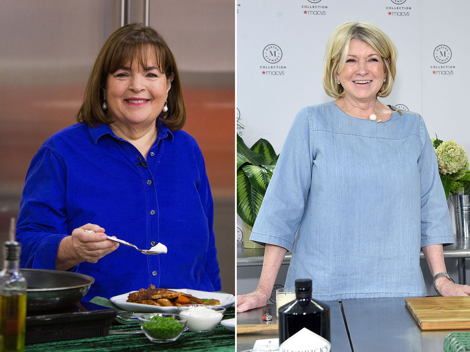 Ina Garten and Martha Stewart