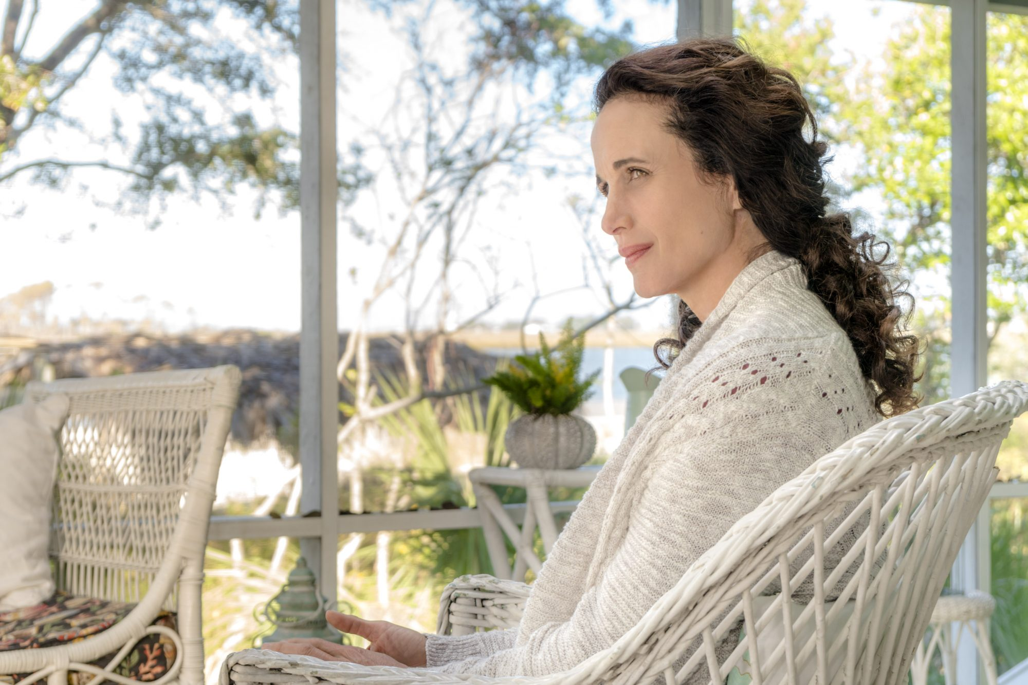 Andie MacDowell in The Beach House Hallmark Movie