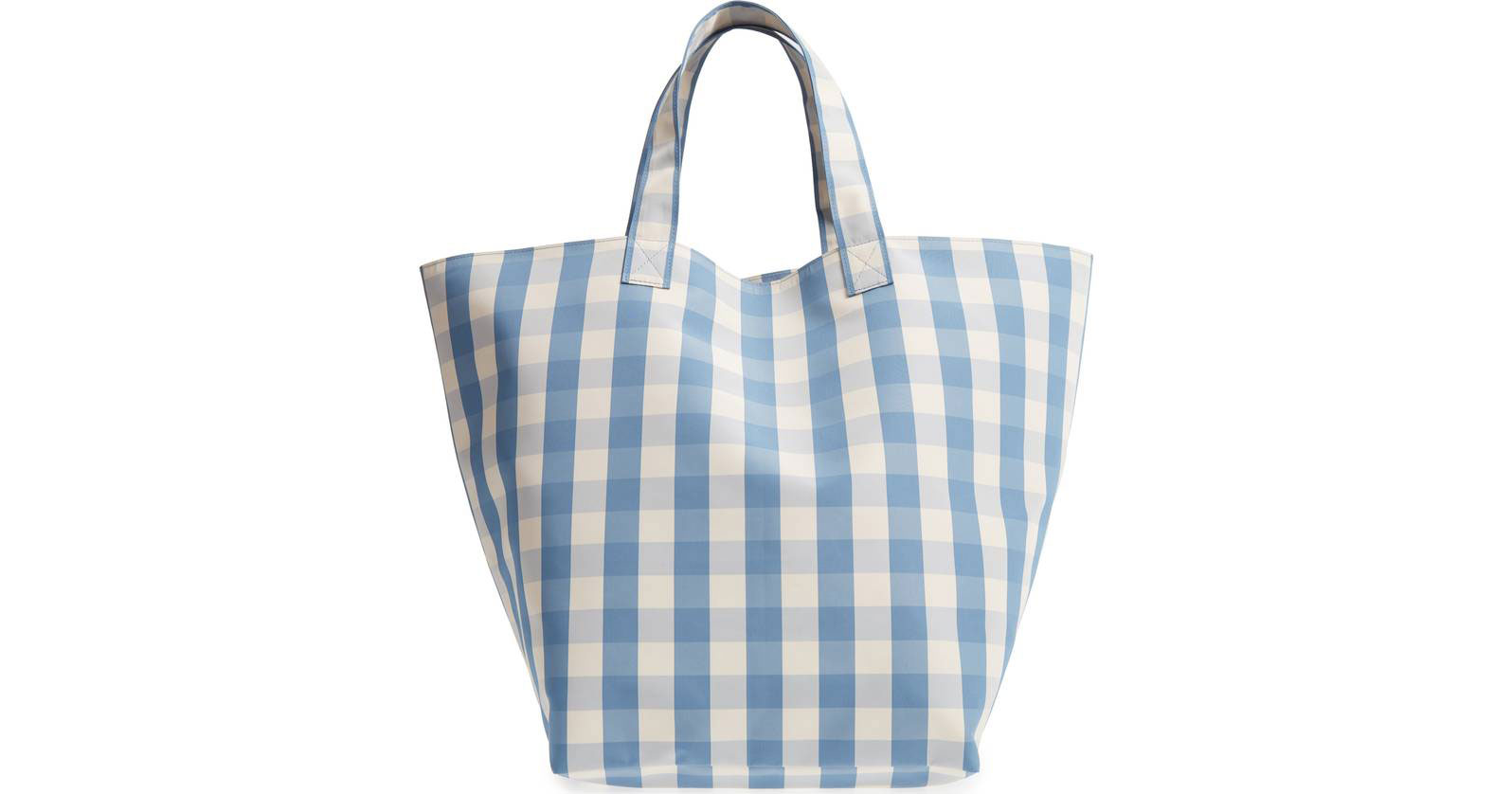 Trademark Large Gingham Nylon Tote