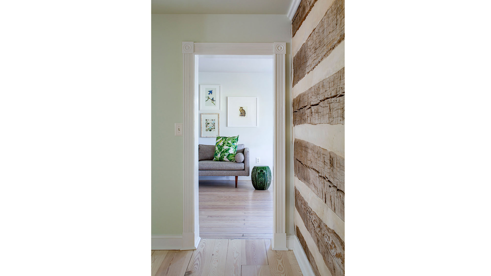 Log Wall with Chinking