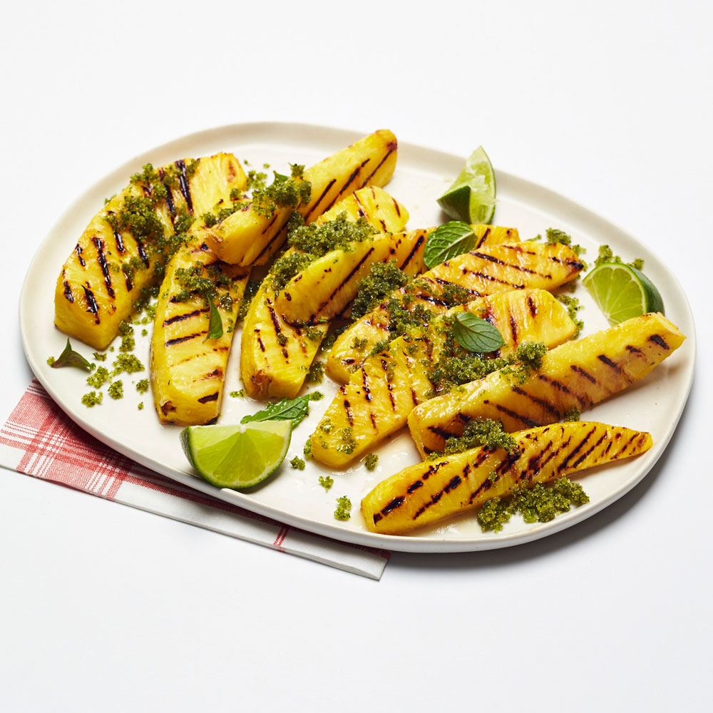 Grilled Pineapple with Mint Sugar