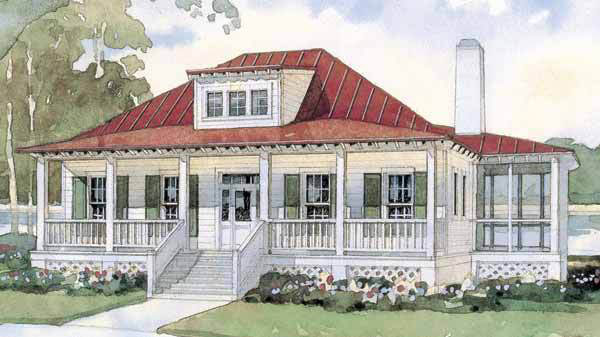 Bermuda Bluff Cottage, Plan #254