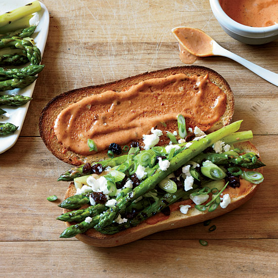 Grilled Asparagus Subs with Smoky French Dressing