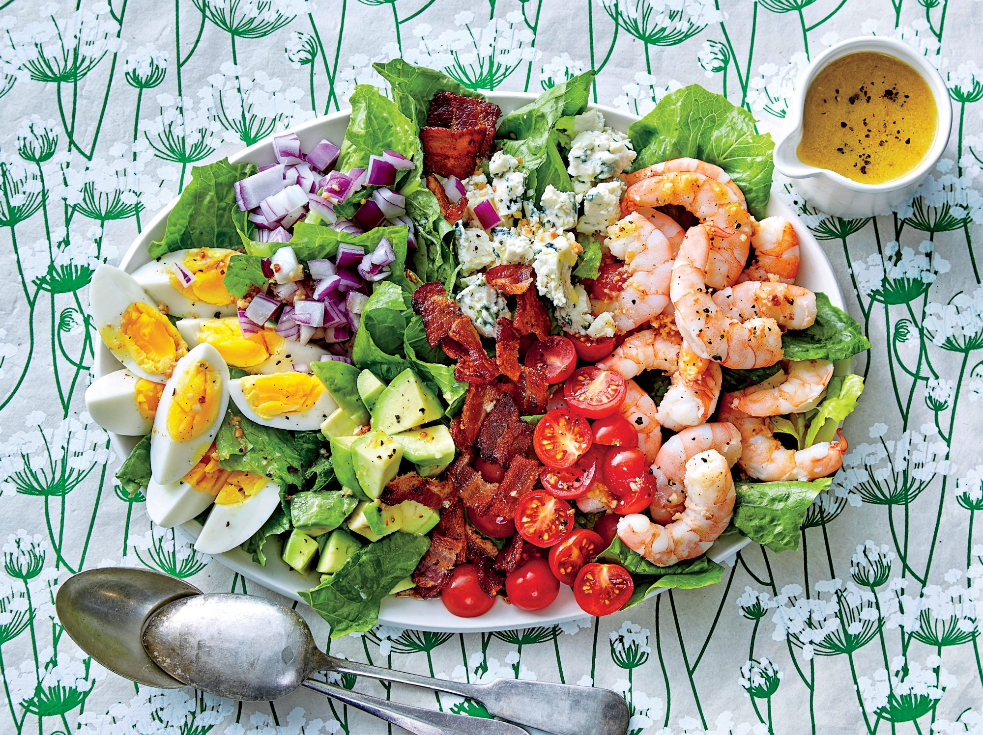 Shrimp Cobb Salad with Bacon Dressing Recipe