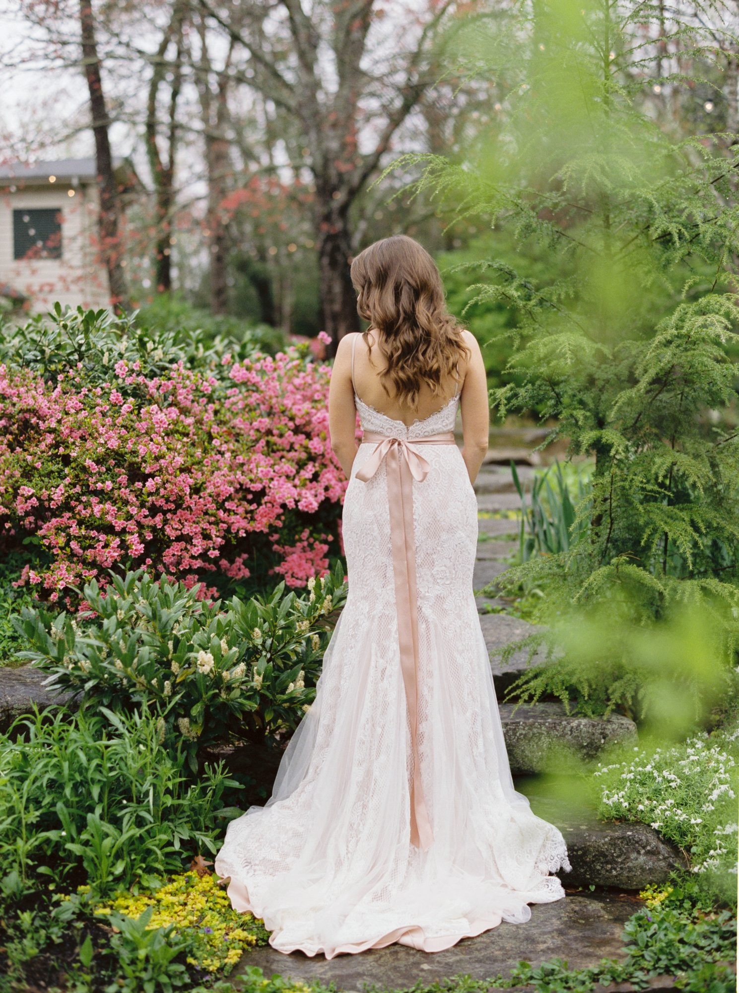 Bridal Gown with Blush Undertones