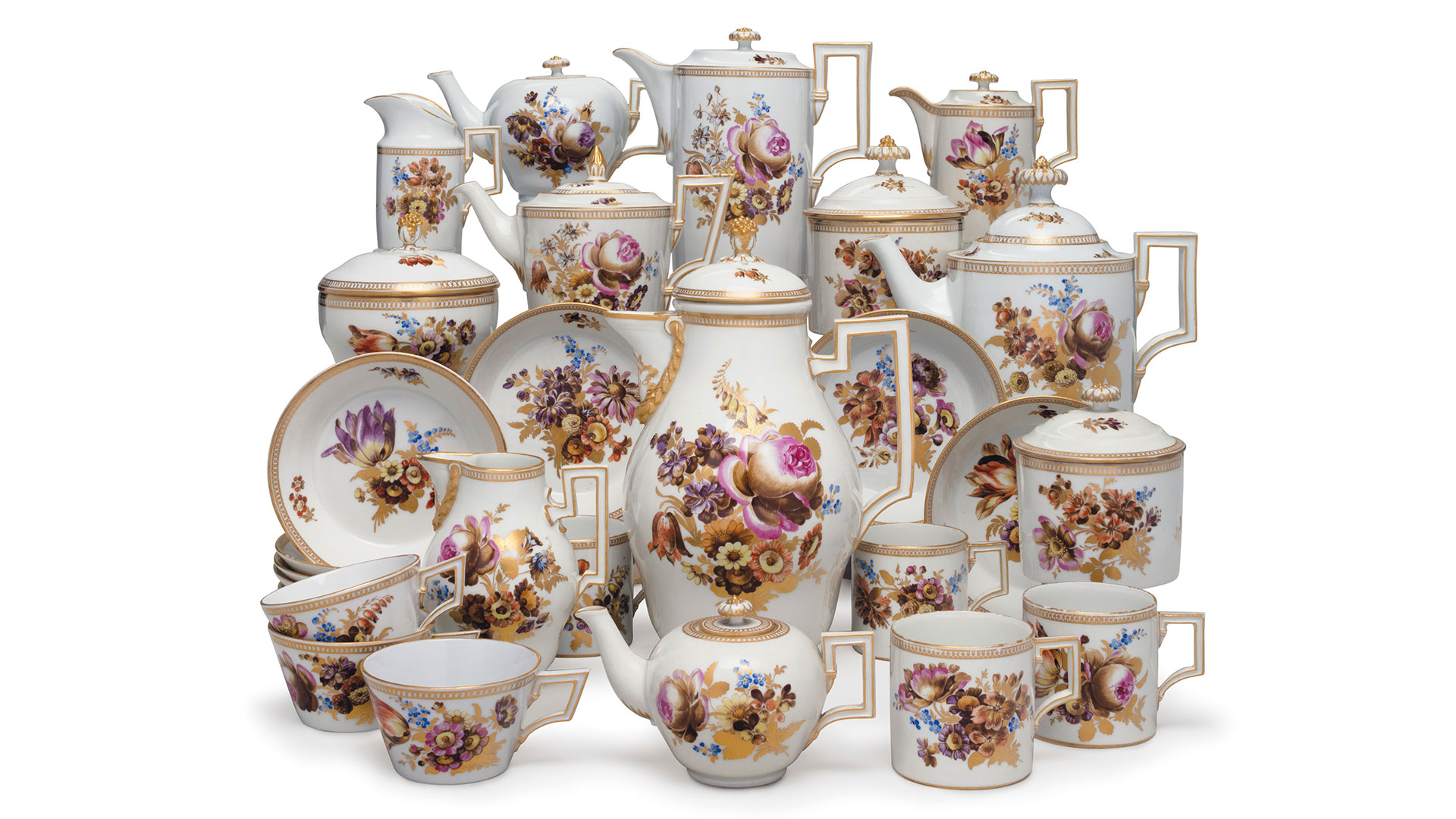 Messien porcelain tea and coffee service, circa 1780