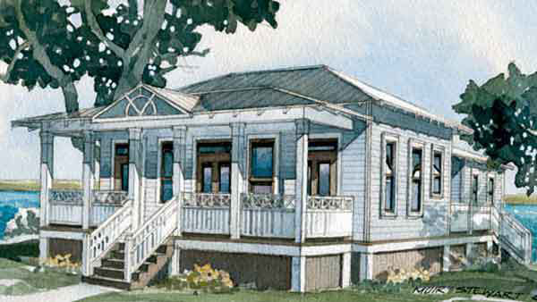 Inlet Cottage, Plan #1519