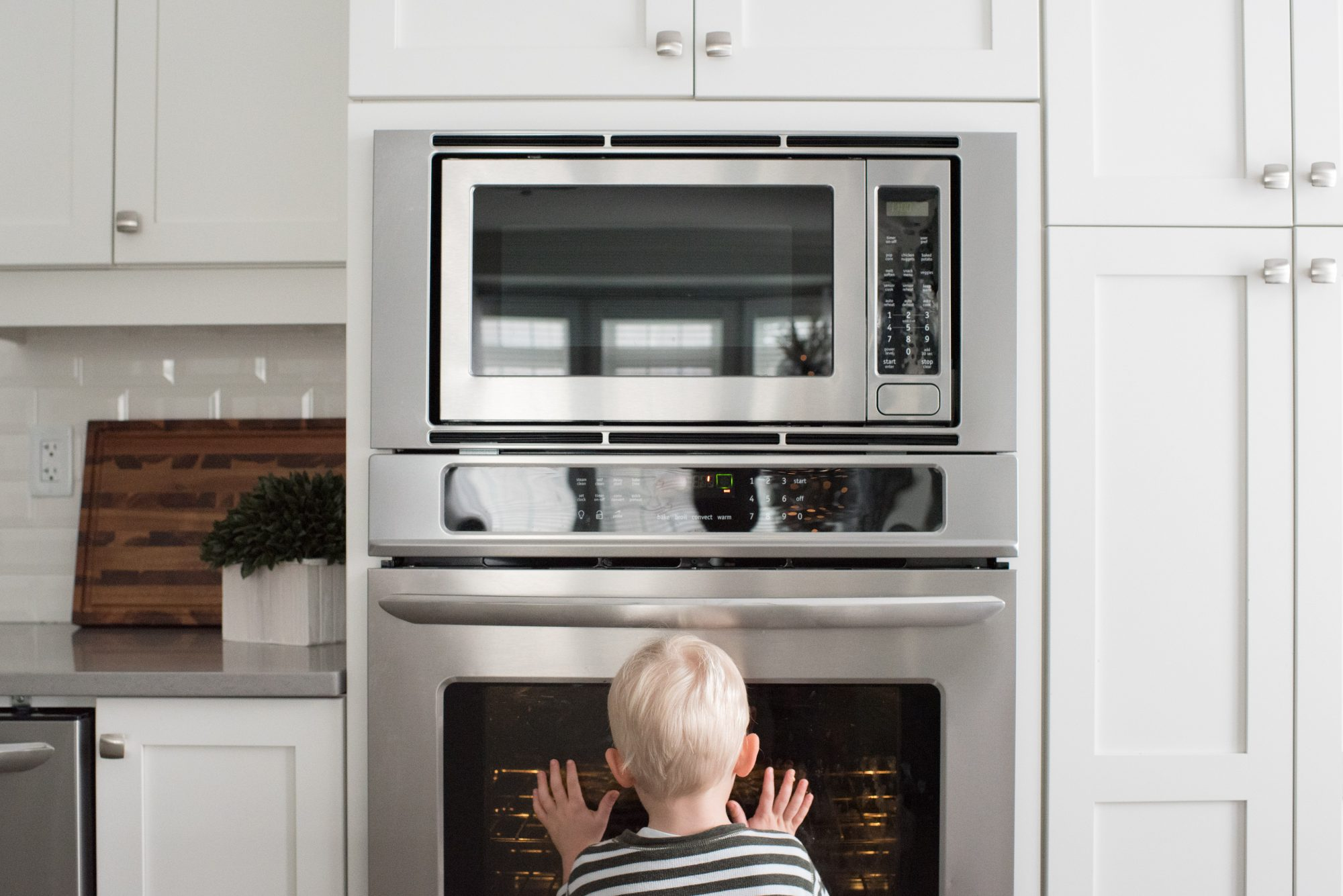 Boy in Front of Oven
