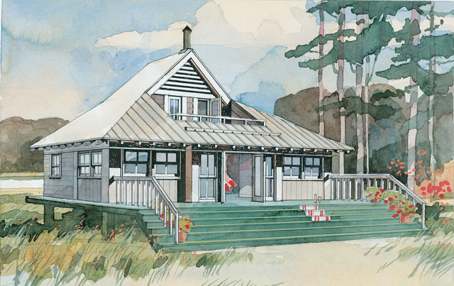 Beach Bungalow, Plan #243