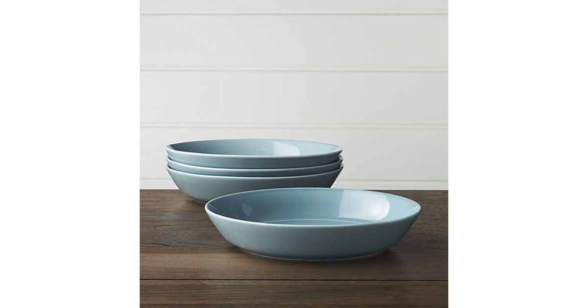 Crate and Barrel Low Bowls