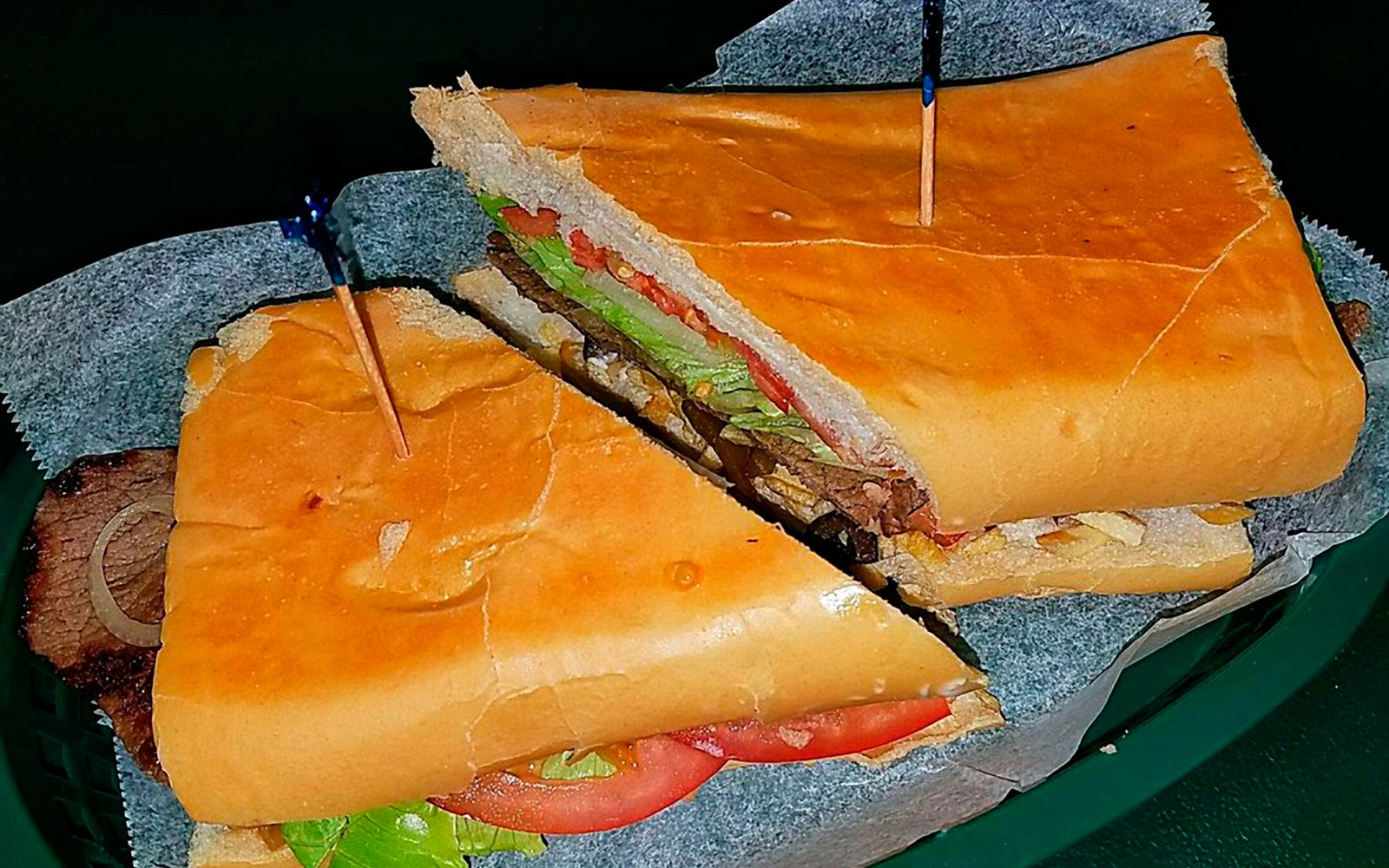 Sandwich at Franky's Deli Warehouse in Hialeah Florida