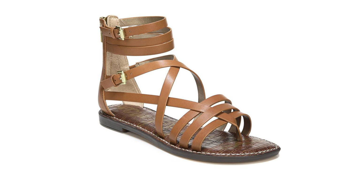 Ganesa Strappy Sandal in Saddle Leather
