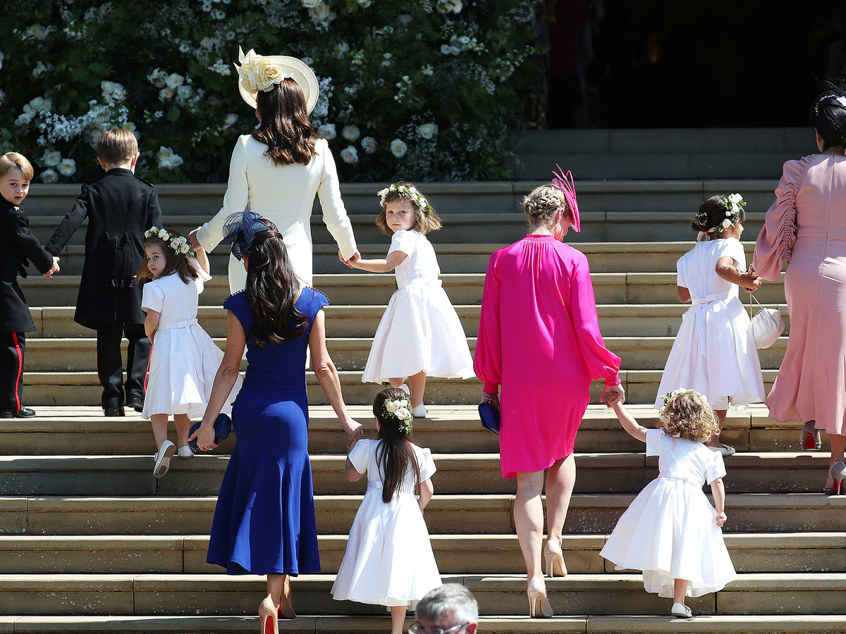 How Princess Charlotte Took Charge of the Other Kids at the Royal Wedding: 'No, You Can't Go Yet!' george-2