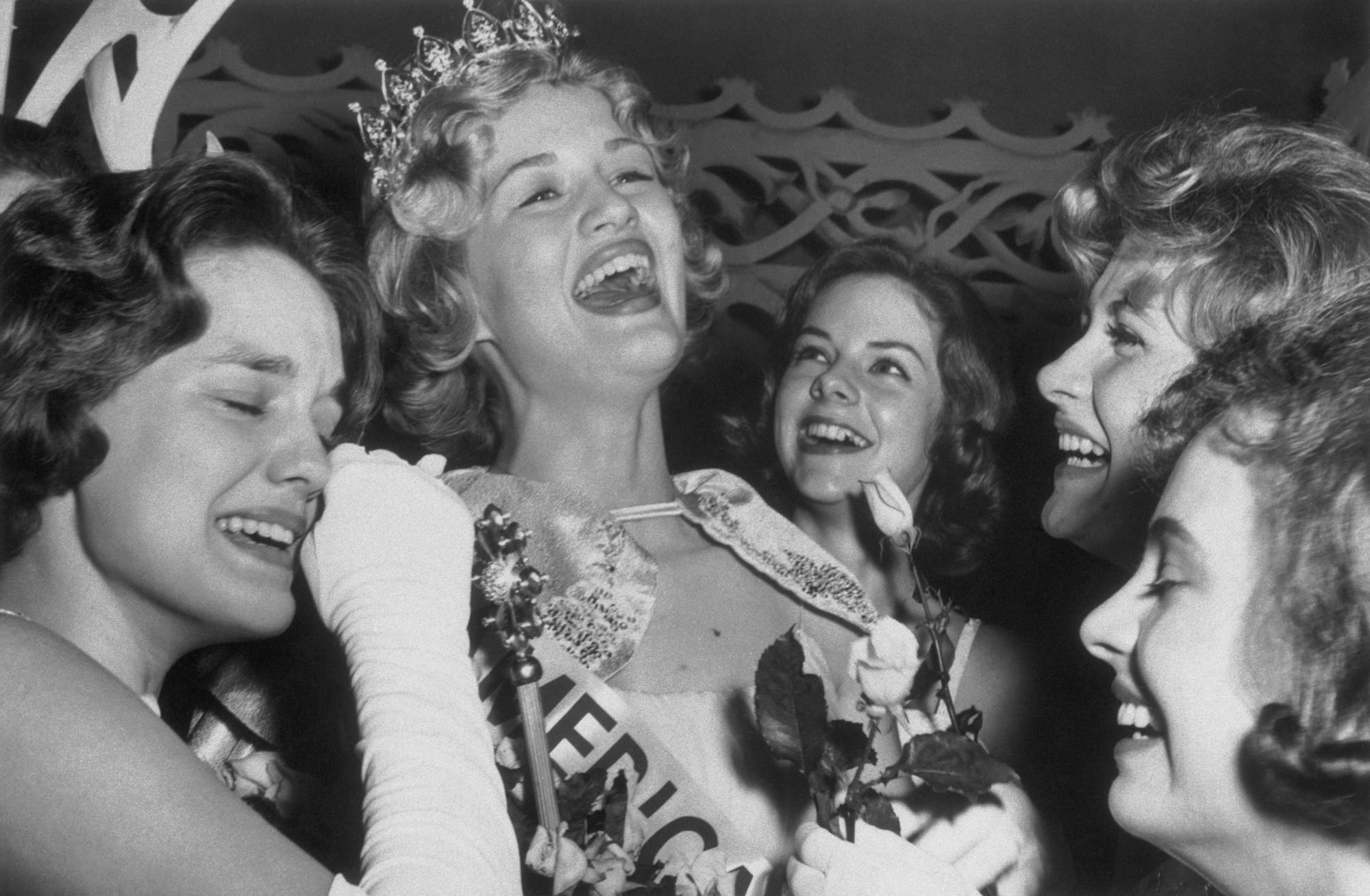 Junior Miss Kentucky 1963 Laughing and Crying with Friends