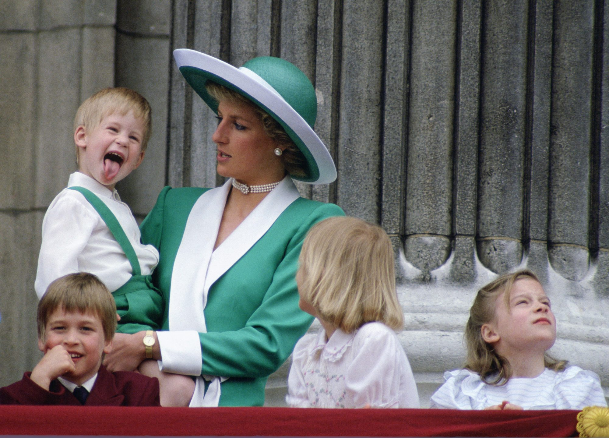 Young Prince Harry Tongue Out