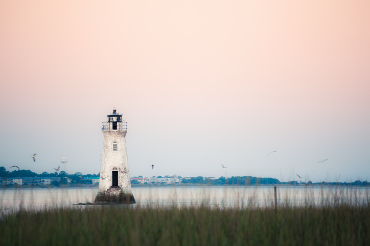 Old lighthouse at the Cockspur island