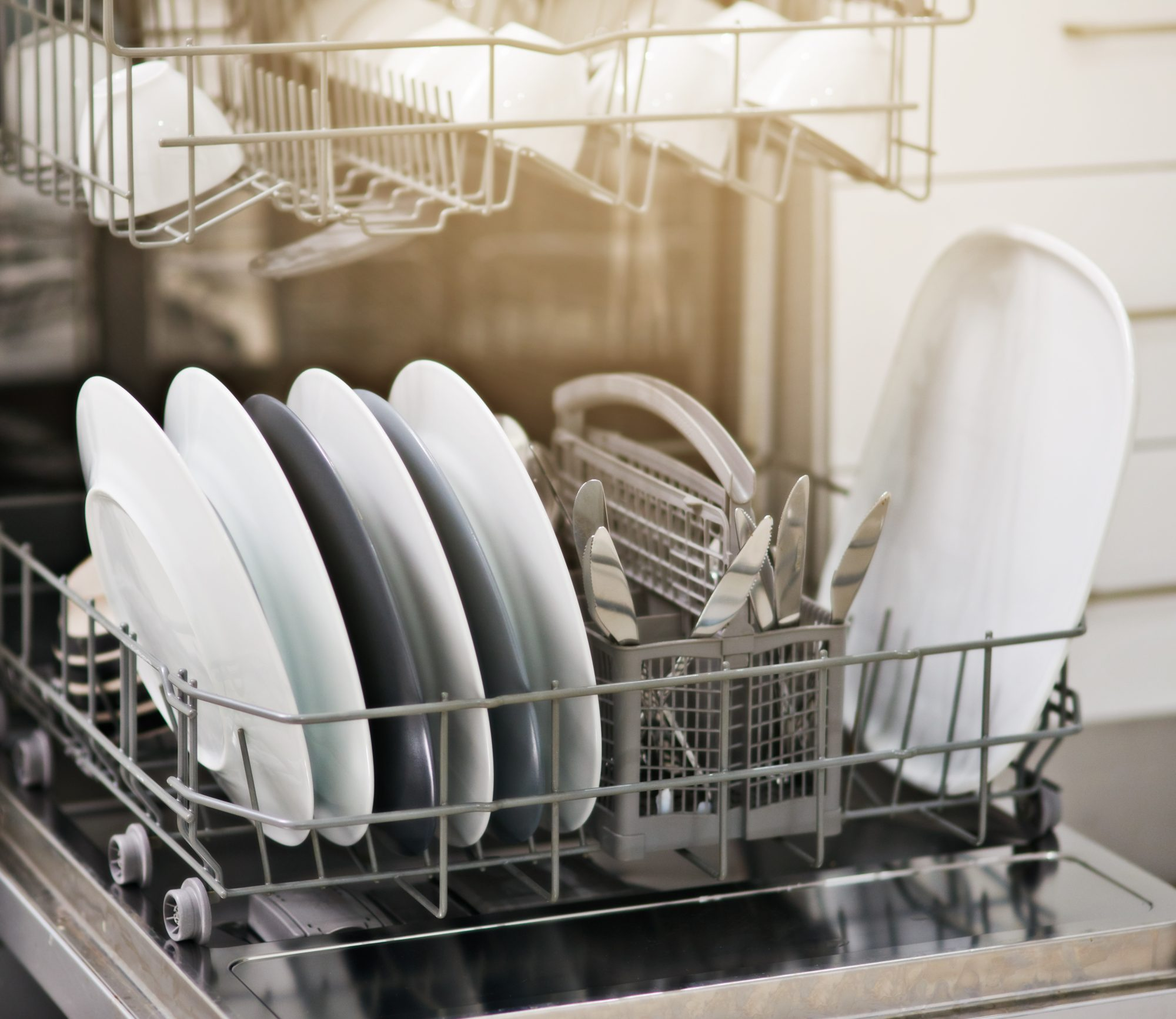 Dishwasher with Clean Dishes