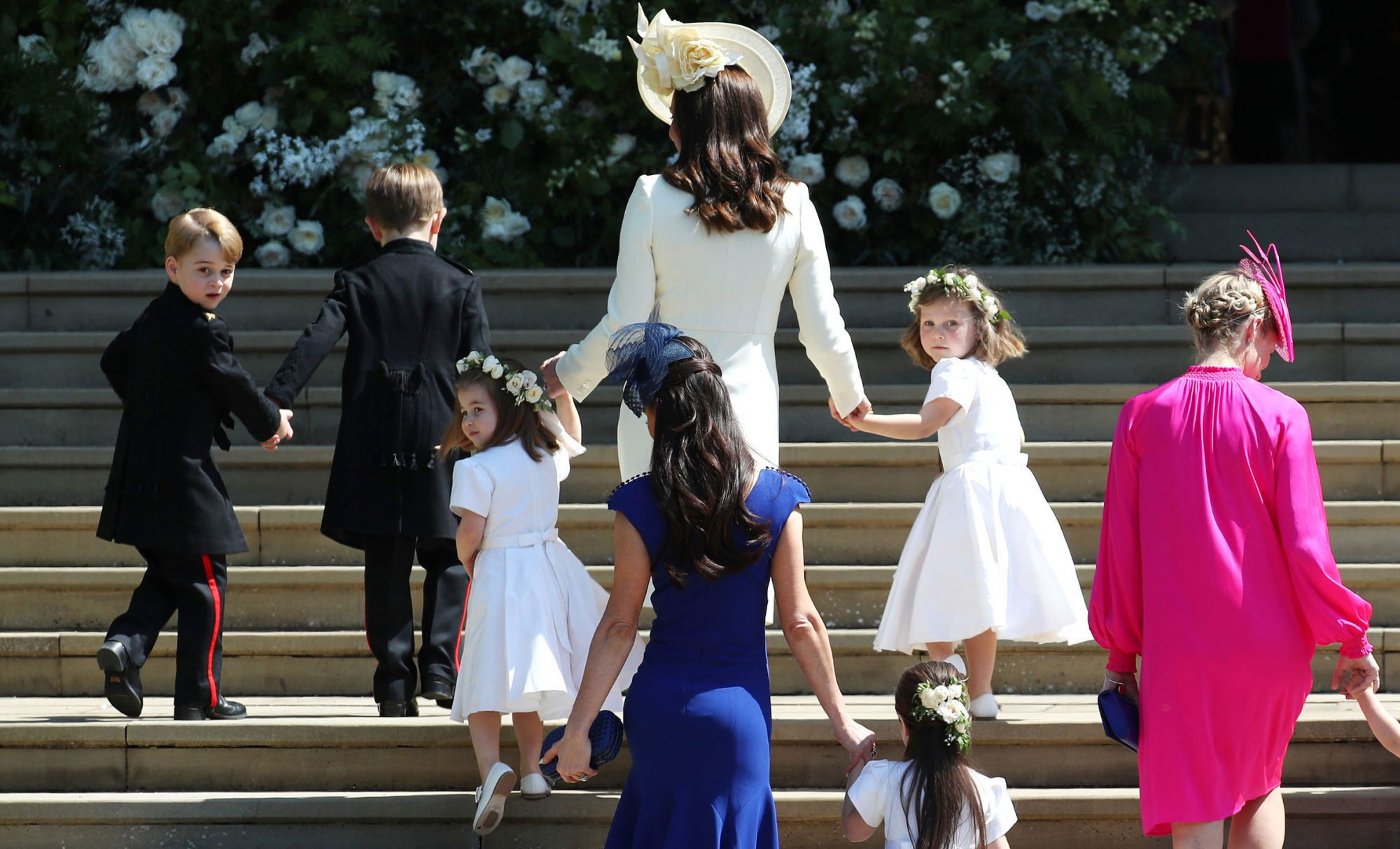 Kate Middleton Walking Up Steps of St. George's