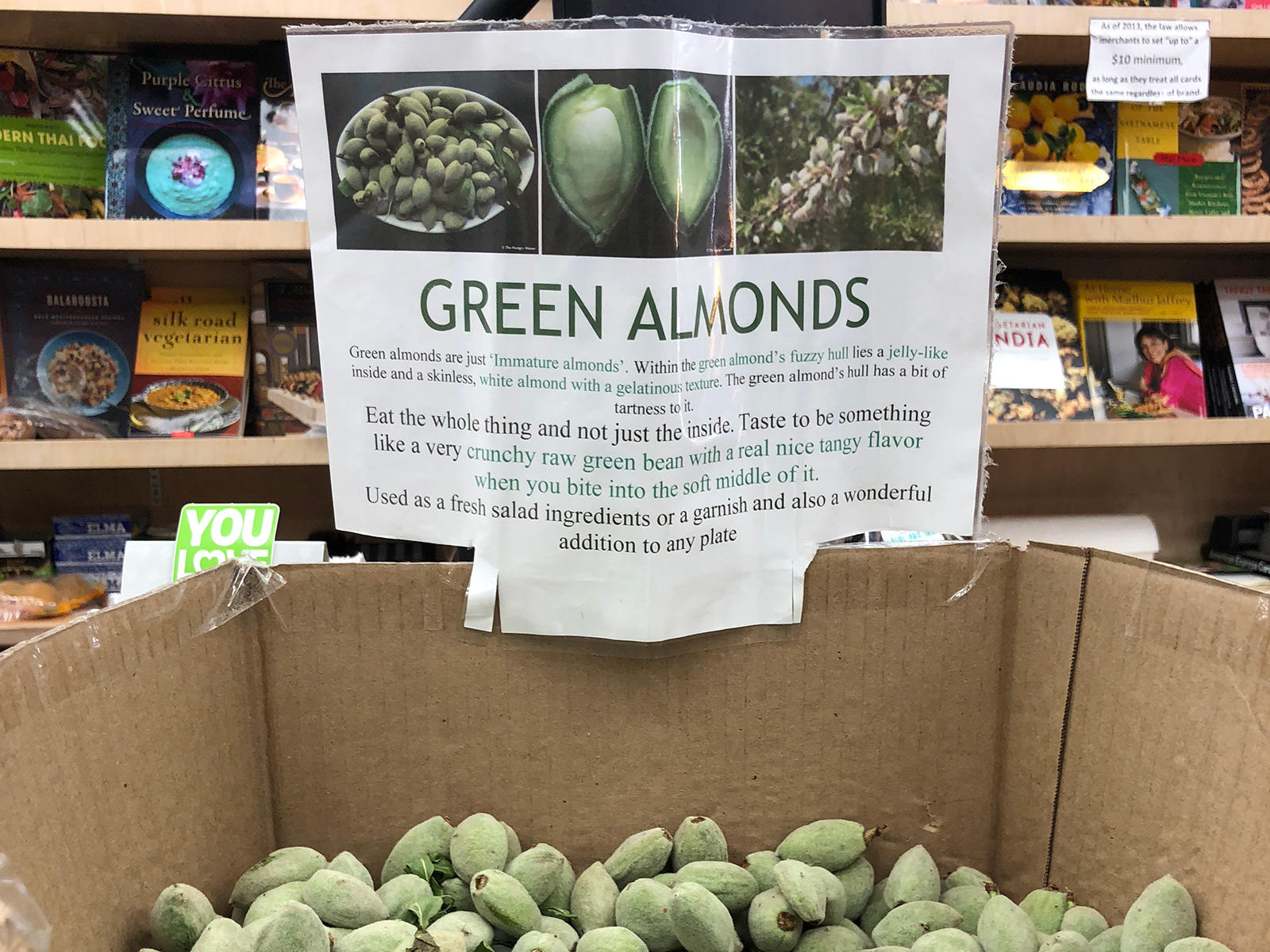 Life Is Fleeting, Try Green Almonds green-almond-sign