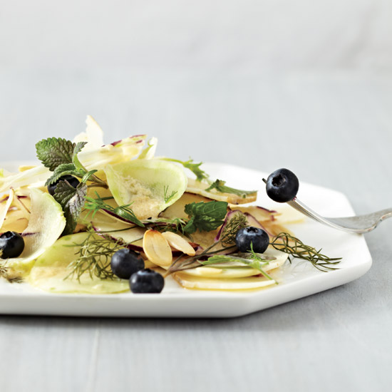 Kohlrabi, Fennel and Blueberry Salad