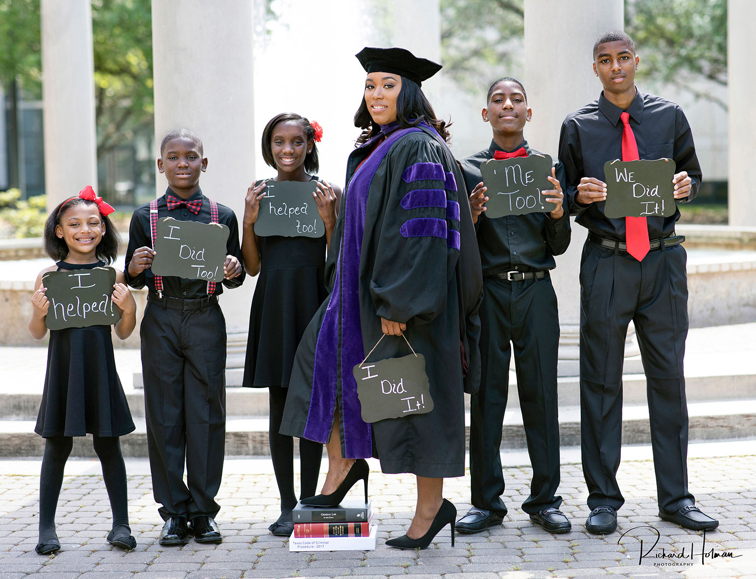 Mom of Five, Once a High School Dropout, Graduates from Law School with Help from Her Kids