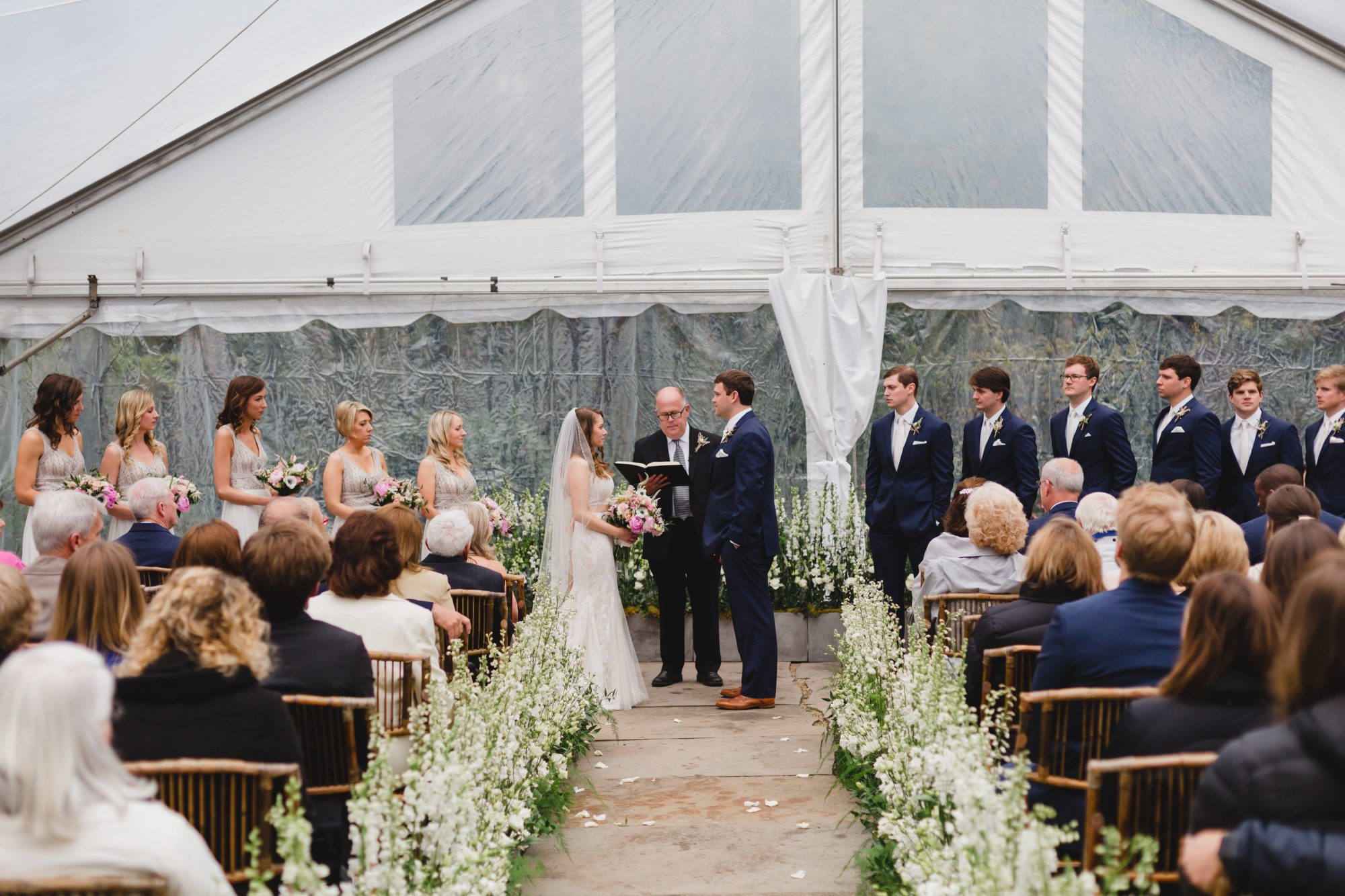 Rainy Wedding Ceremony Tent