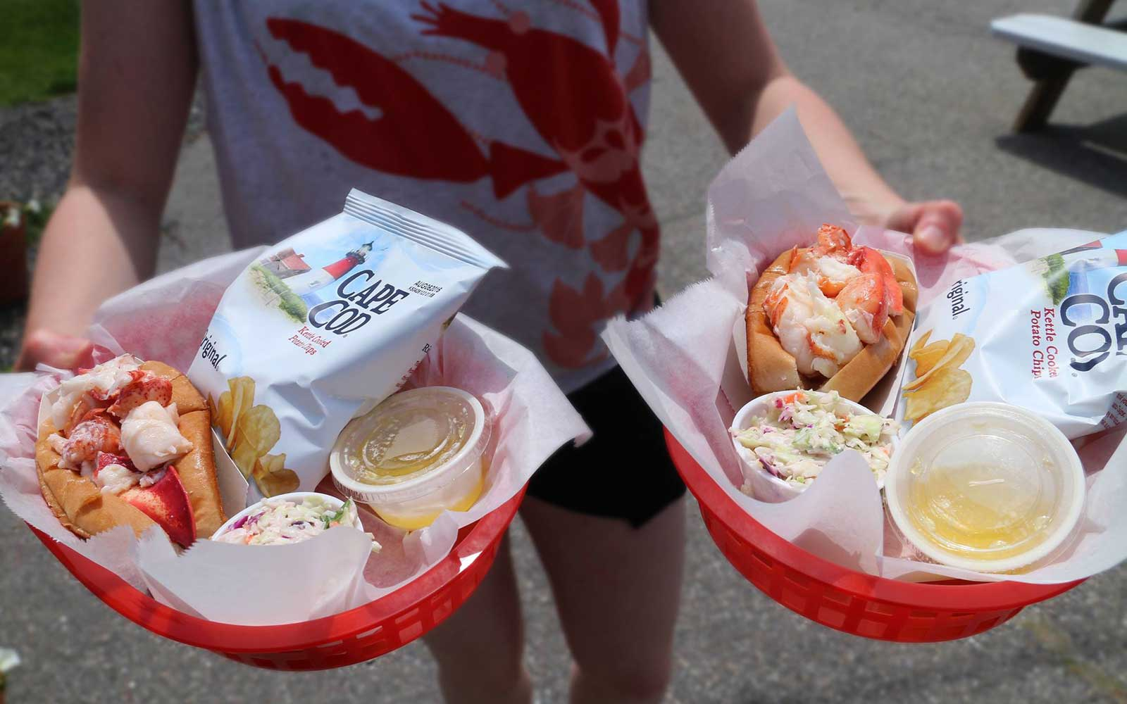 Lobster Rolls at McLoons Lobster, in South Thomaston Maine