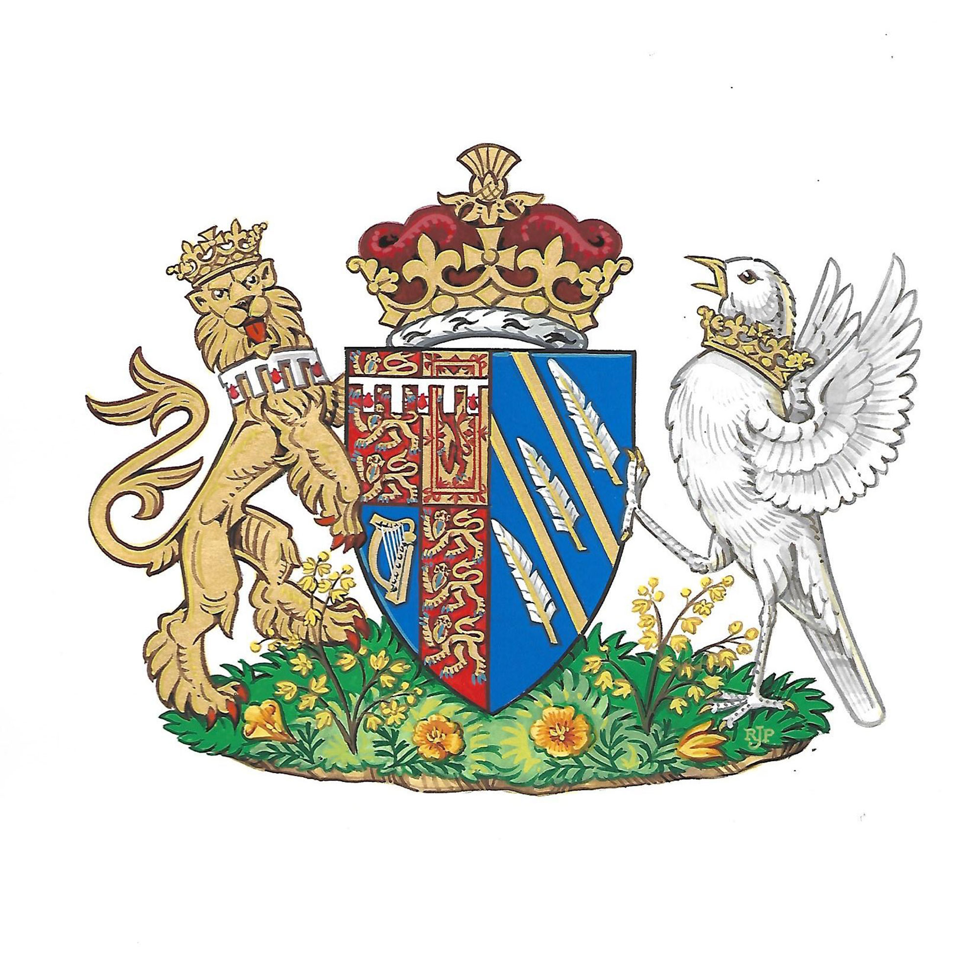 Meghan Markle Just Received a Coat of Arms — and It's Her Biggest Break in Royal Tradition Yet! meghan-markle-coat-of-arms