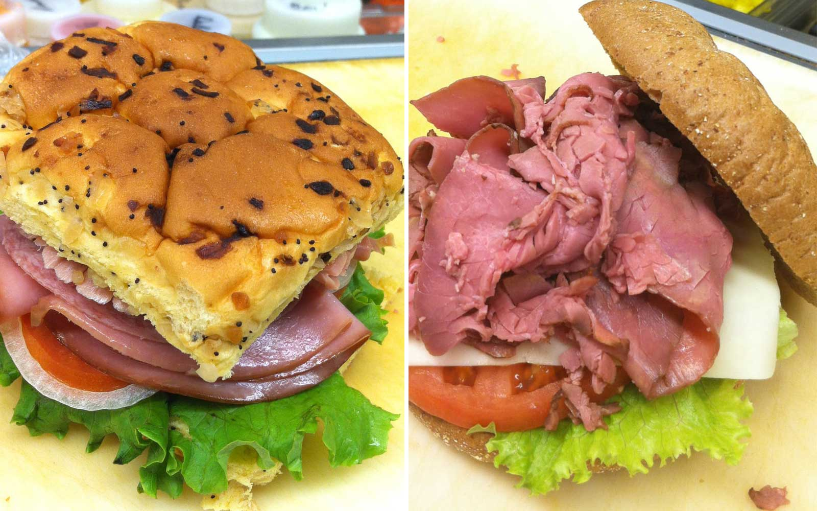 Roast Beef Sandwiches at Jon's Roast Beef in Laconia New Hampshire