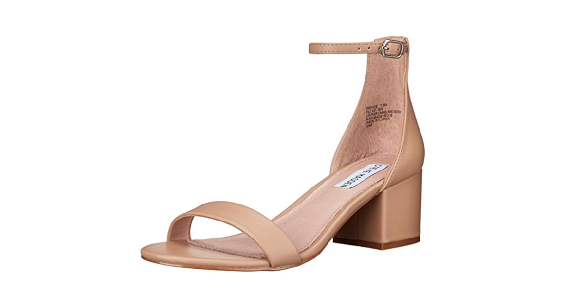 RX_1805_These Are Summer's Most Comfortable Sandals, According to Our Style Editor_Steve Madden Women's Irenee Heeled Dress Sandal in Blush