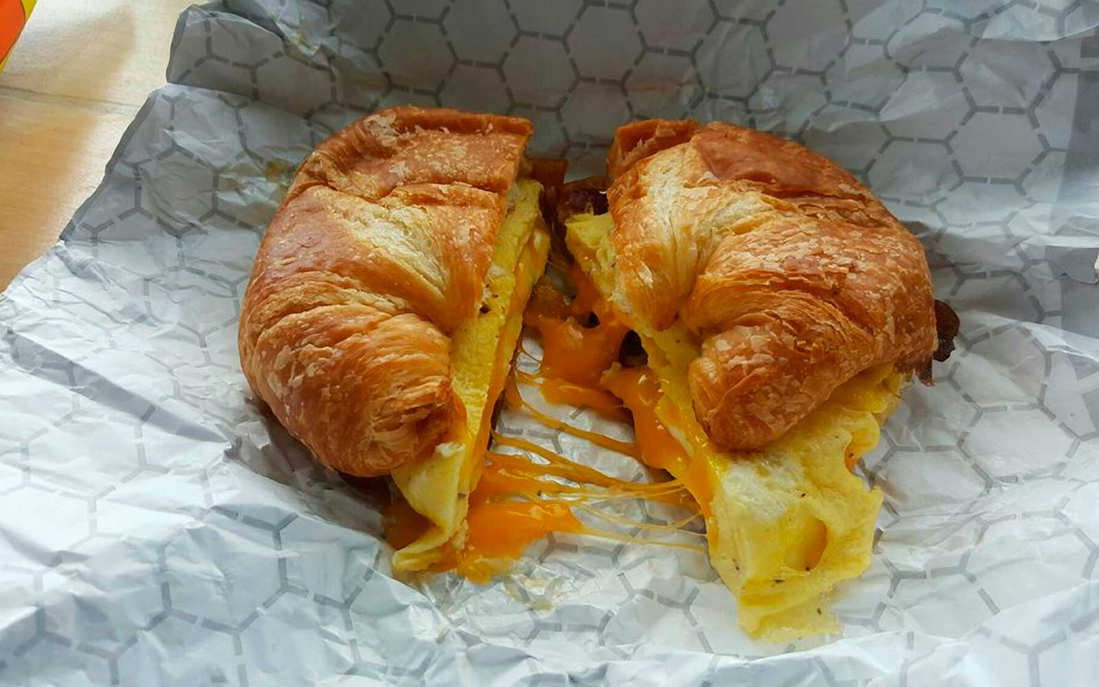 Croissant Sandwich at Brewers Cafe in Richmond Virginia