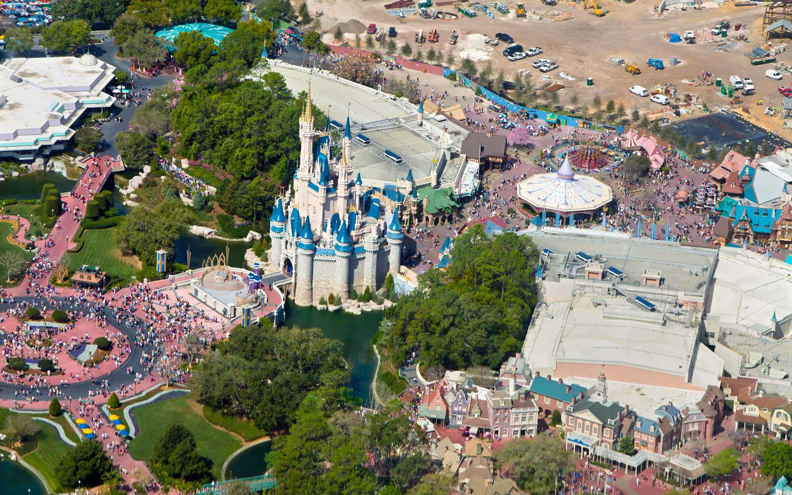 Aerial view of Walt Disney's World Magic Kingdom