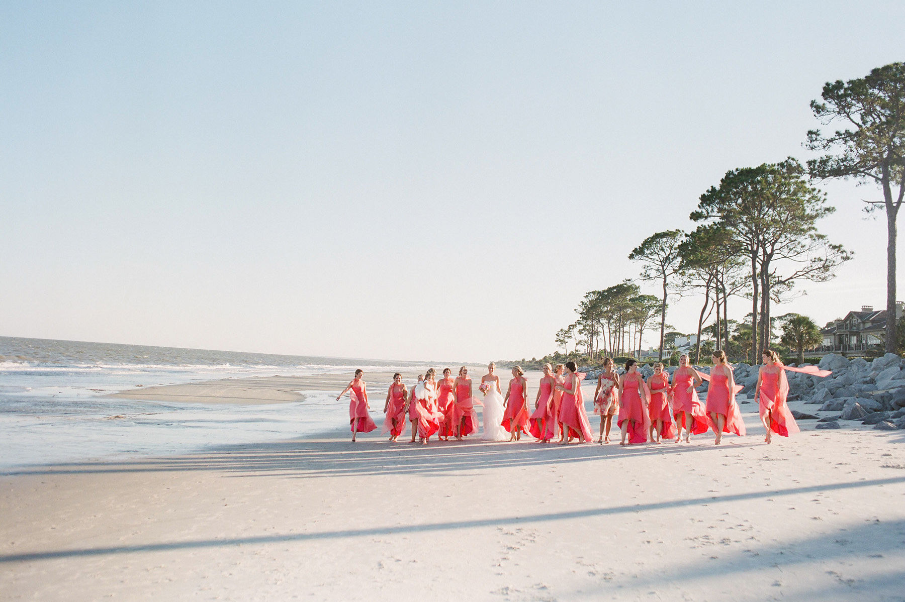 Pink Charleston Wedding Bridesmaids