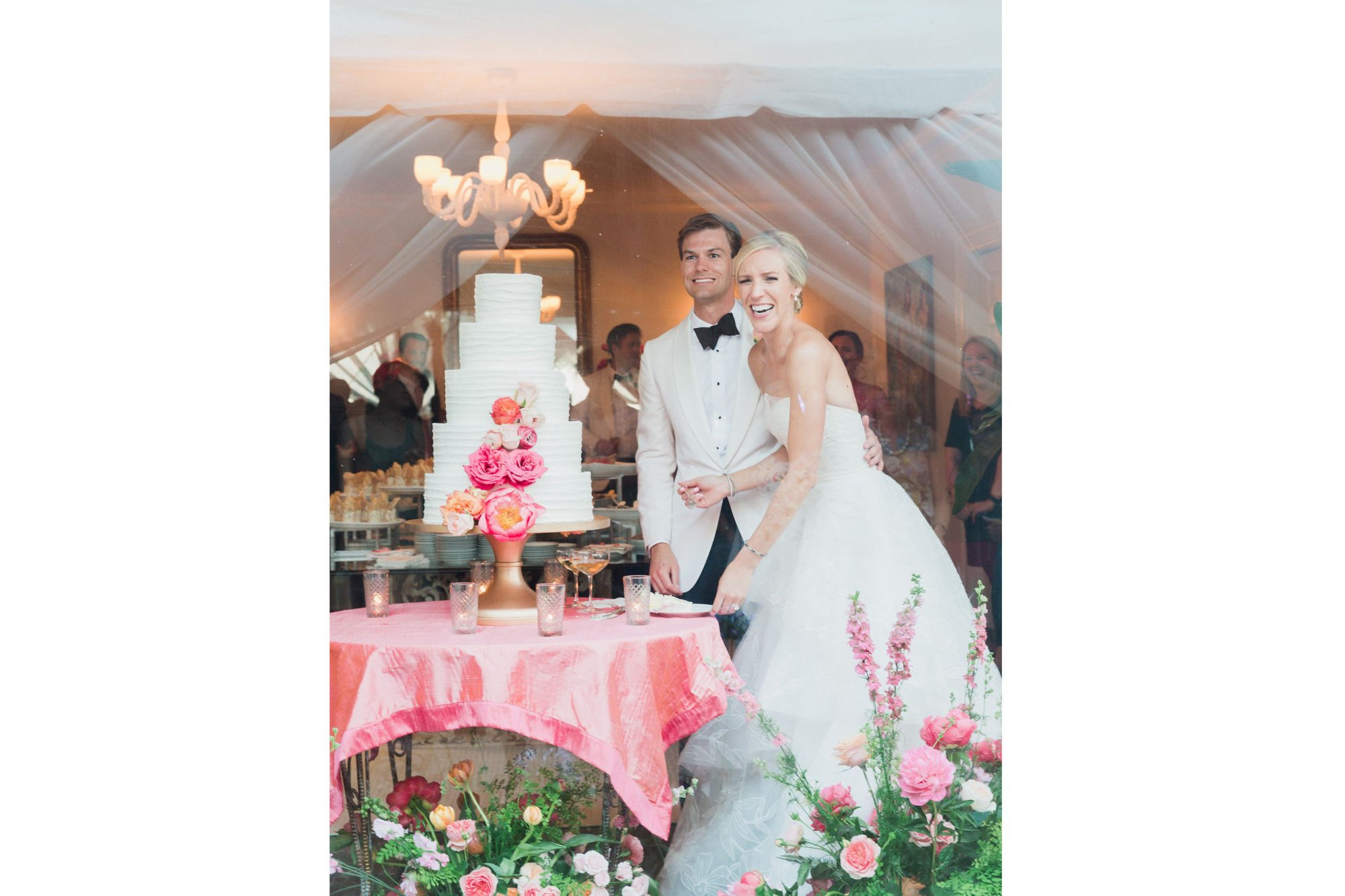 Pink Charleston Wedding Cake