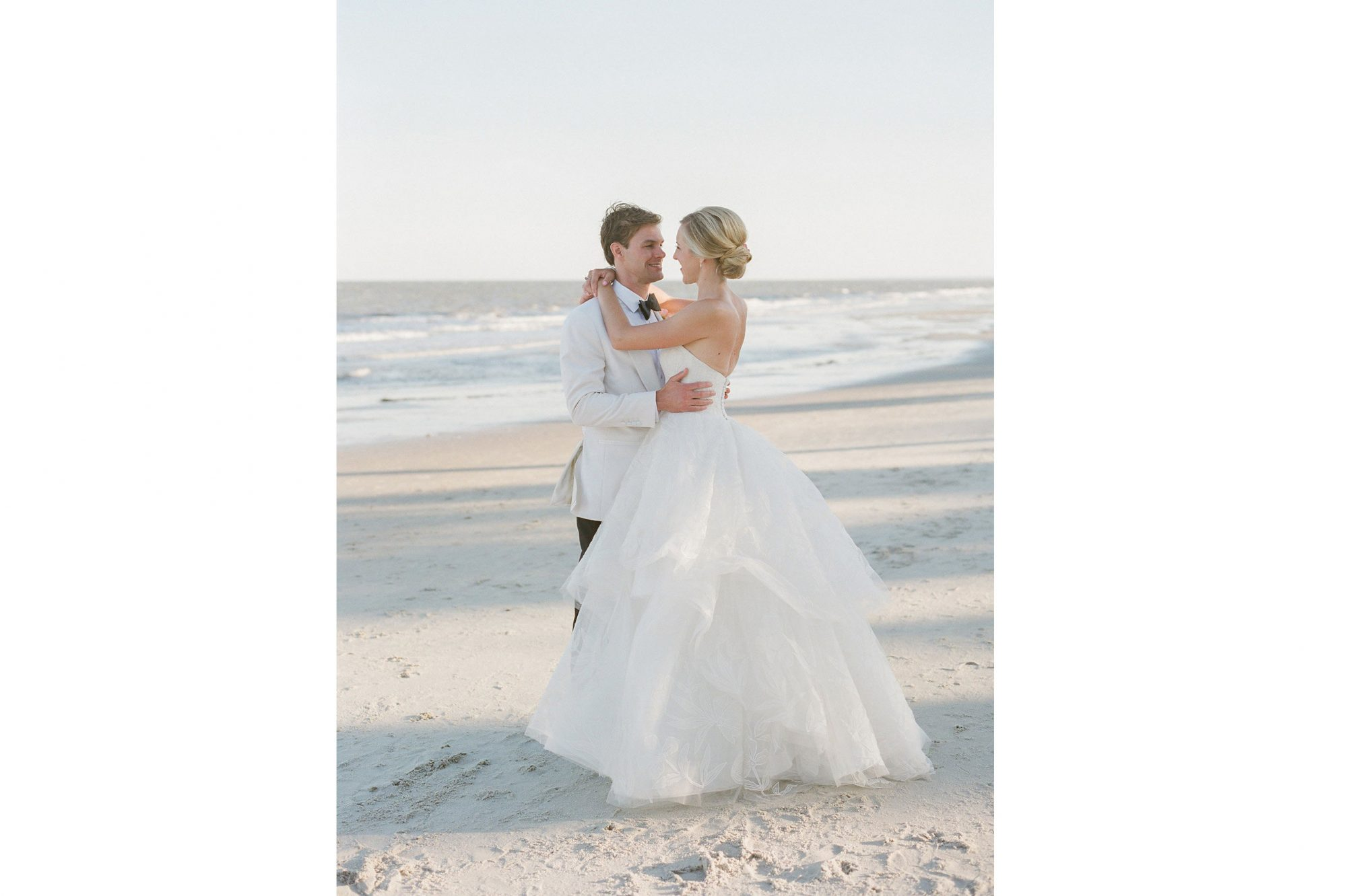 Pink Charleston Wedding Beach Couple