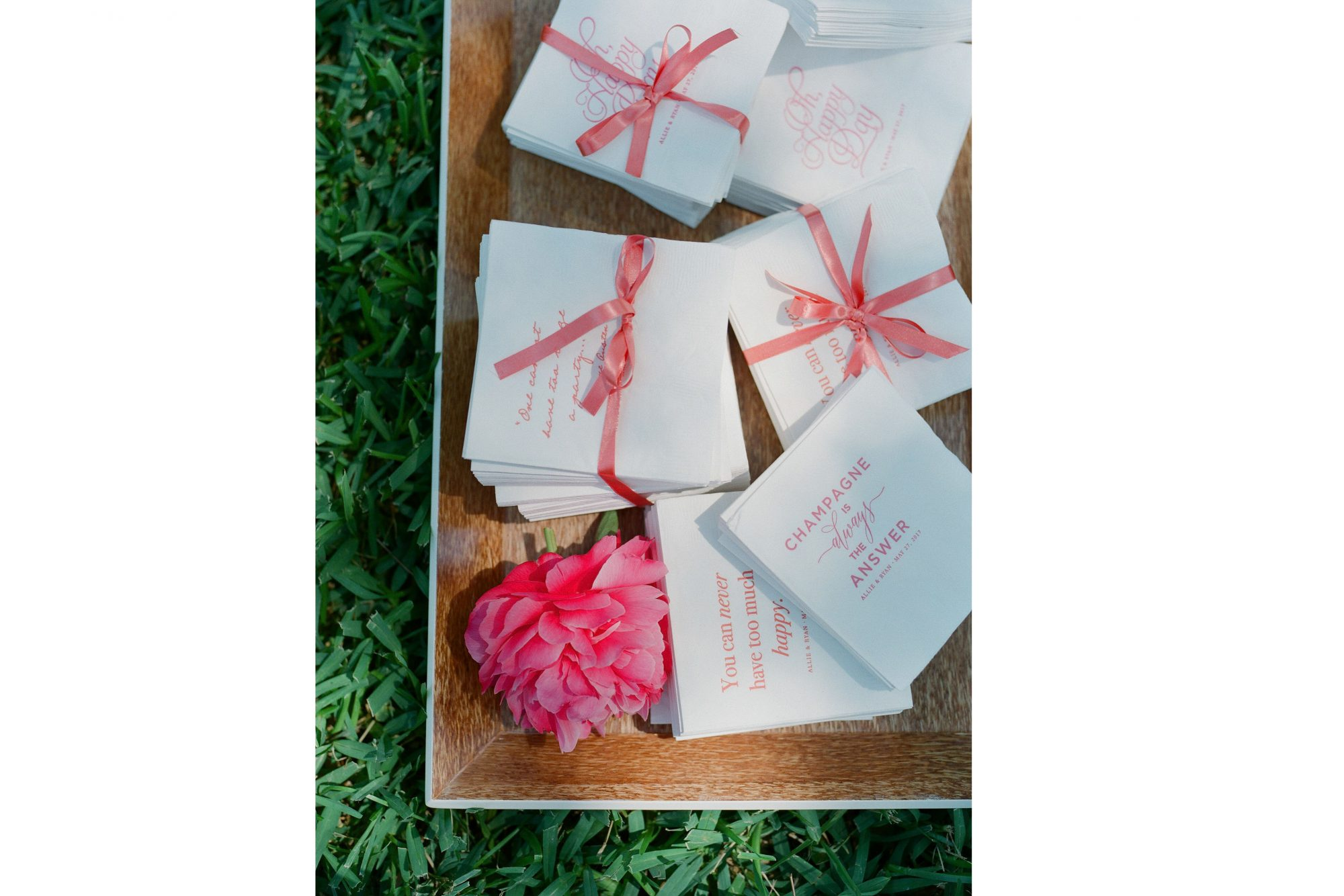 Pink Charleston Wedding Napkins