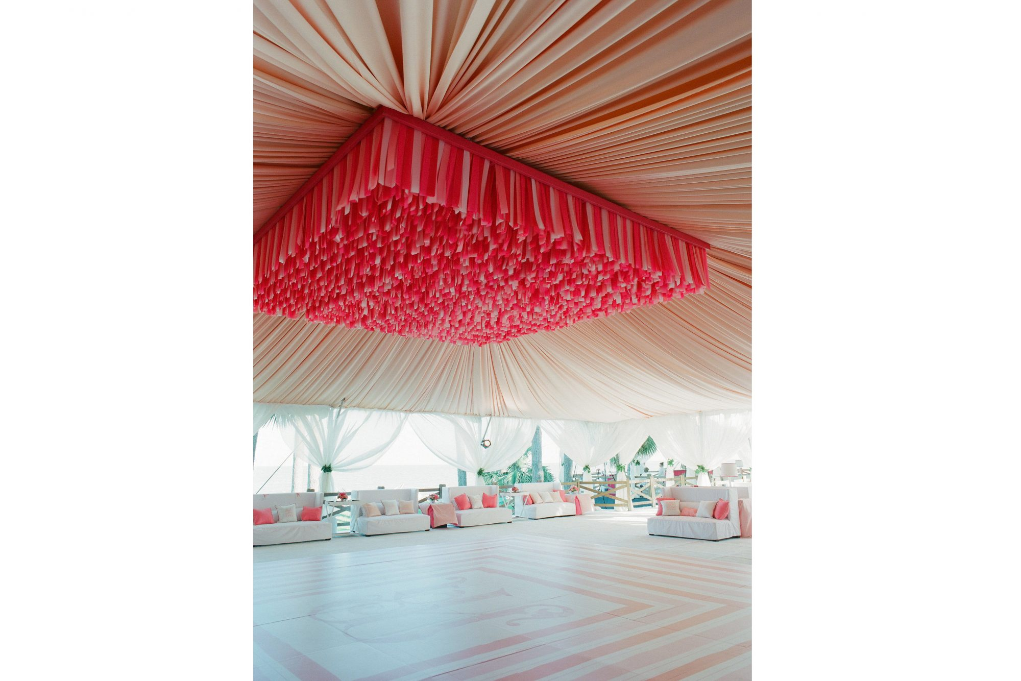 Pink Charleston Wedding Dance Floor