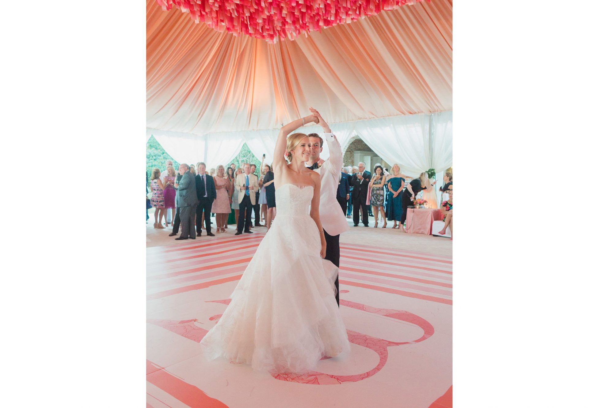 Pink Charleston Wedding Dancing