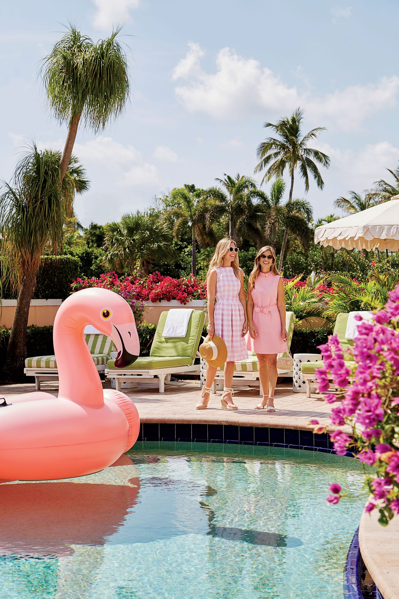 Danielle Norcross and Beth Aschenbach in Pink of Palm Beach Lately