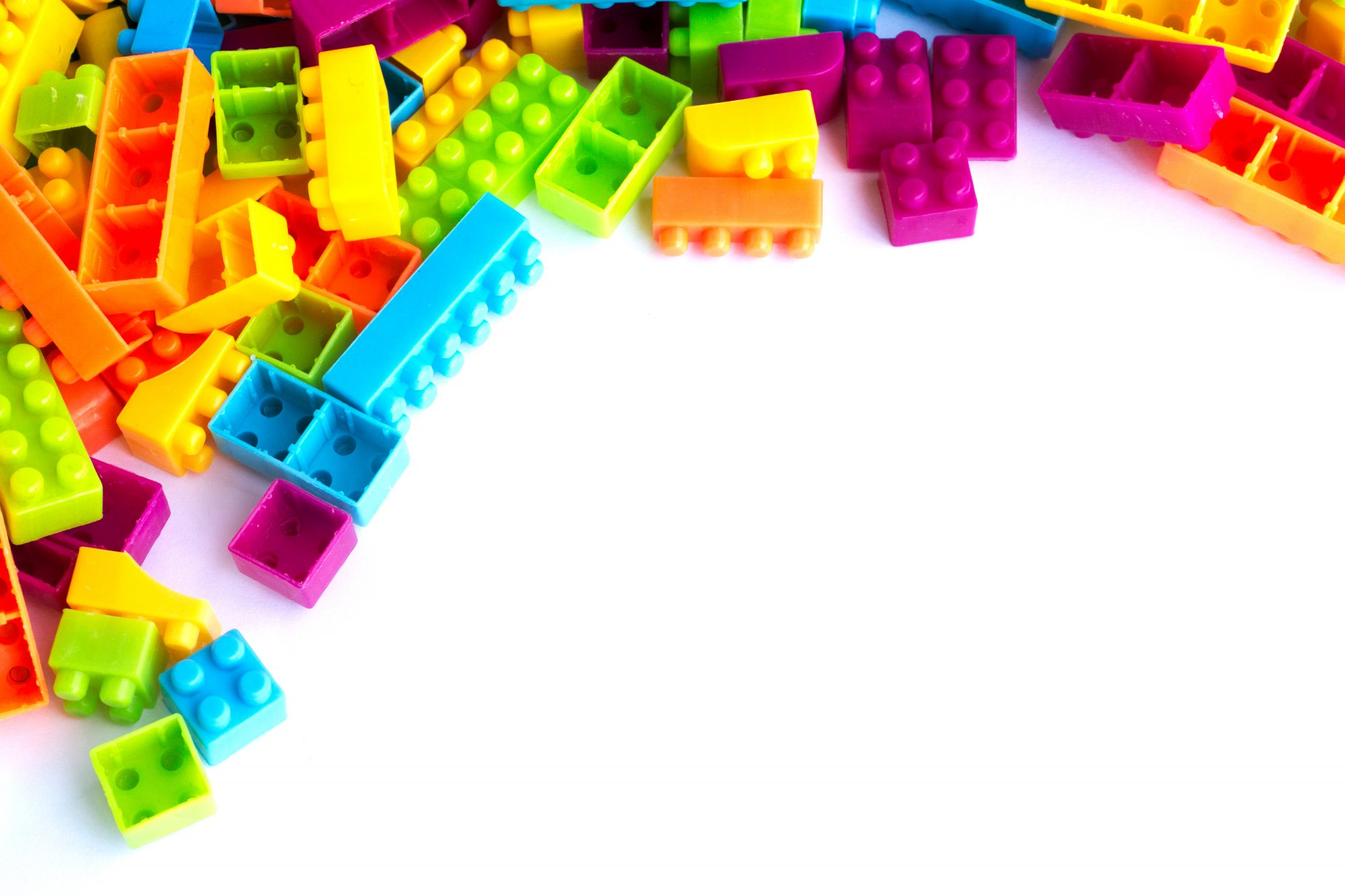 Colorful Plastic Building Blocks