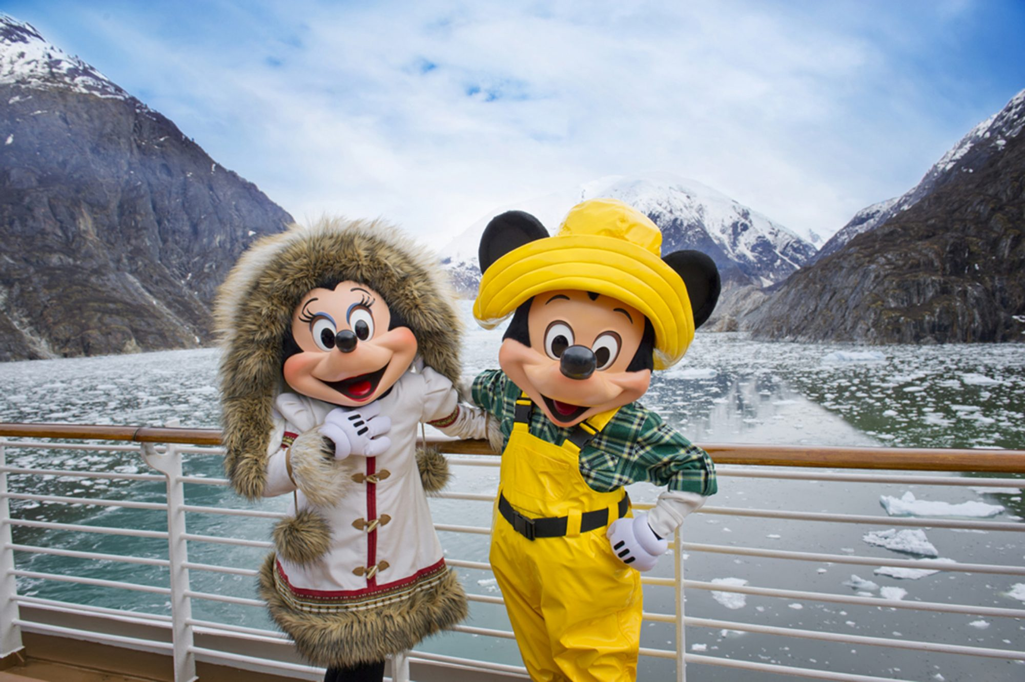 Mickey Mouse and Minnie Mouse Visit the Last Frontier