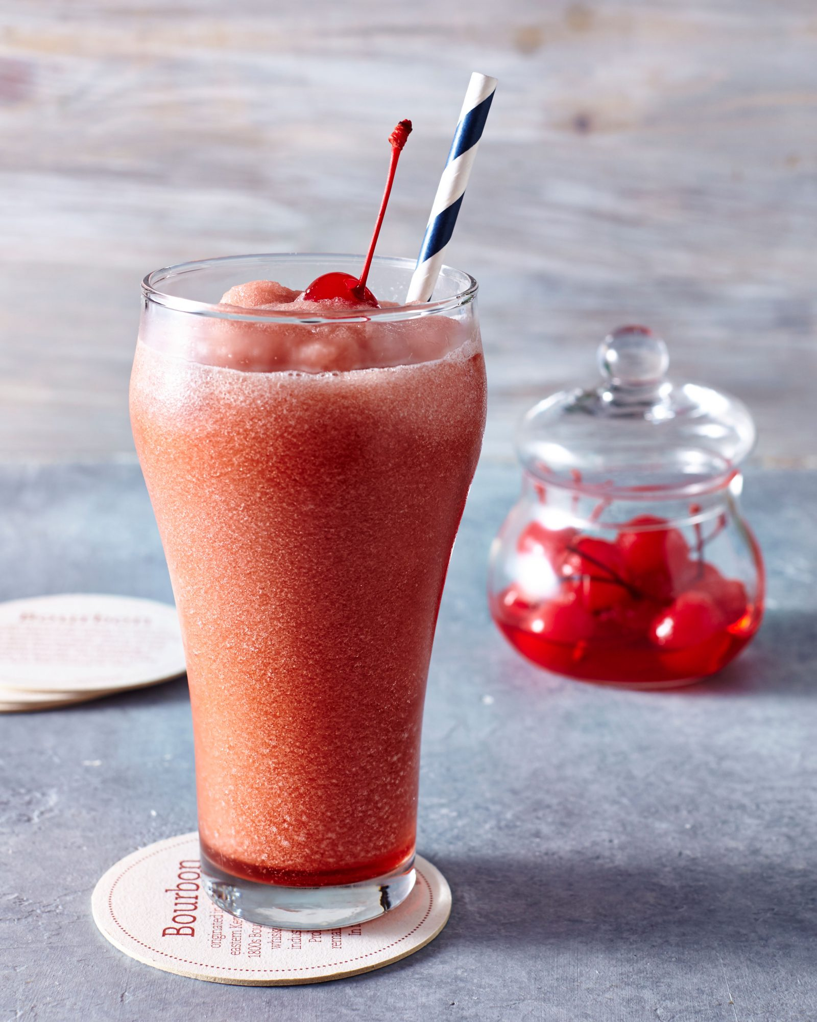 Bourbon Cola Grenadine Slush