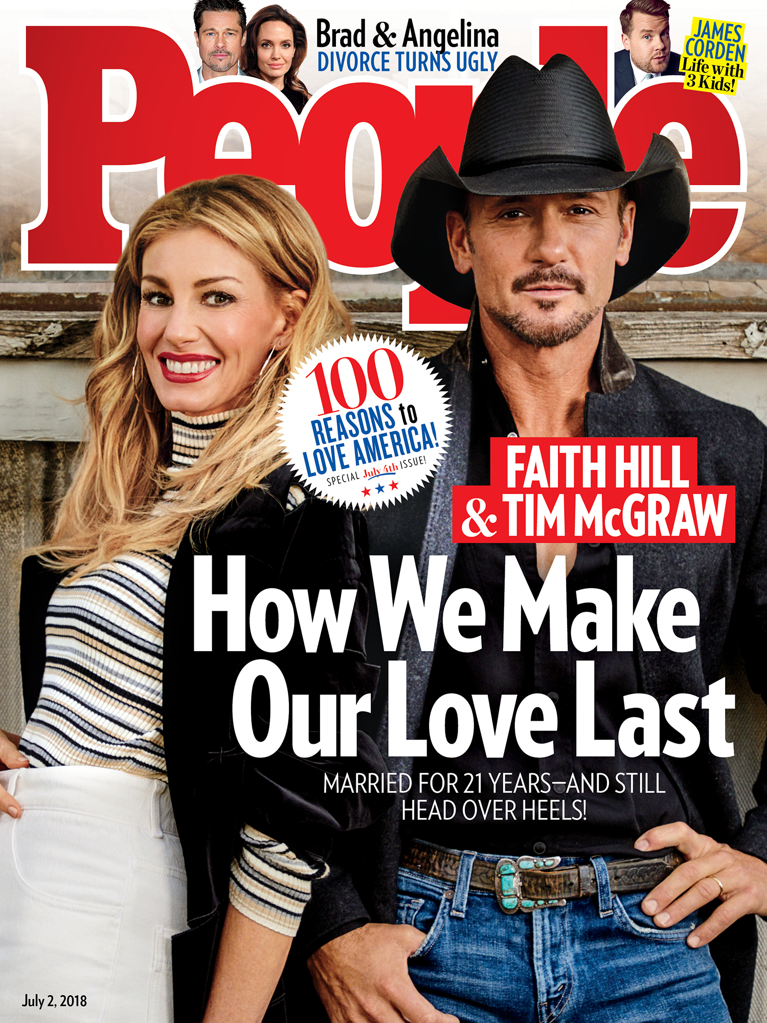 Still in Love After 21 Years! Tim McGraw & Faith Hill Say Date Nights, Prayer and Alone Time Keep Their Marriage Strong cover2
