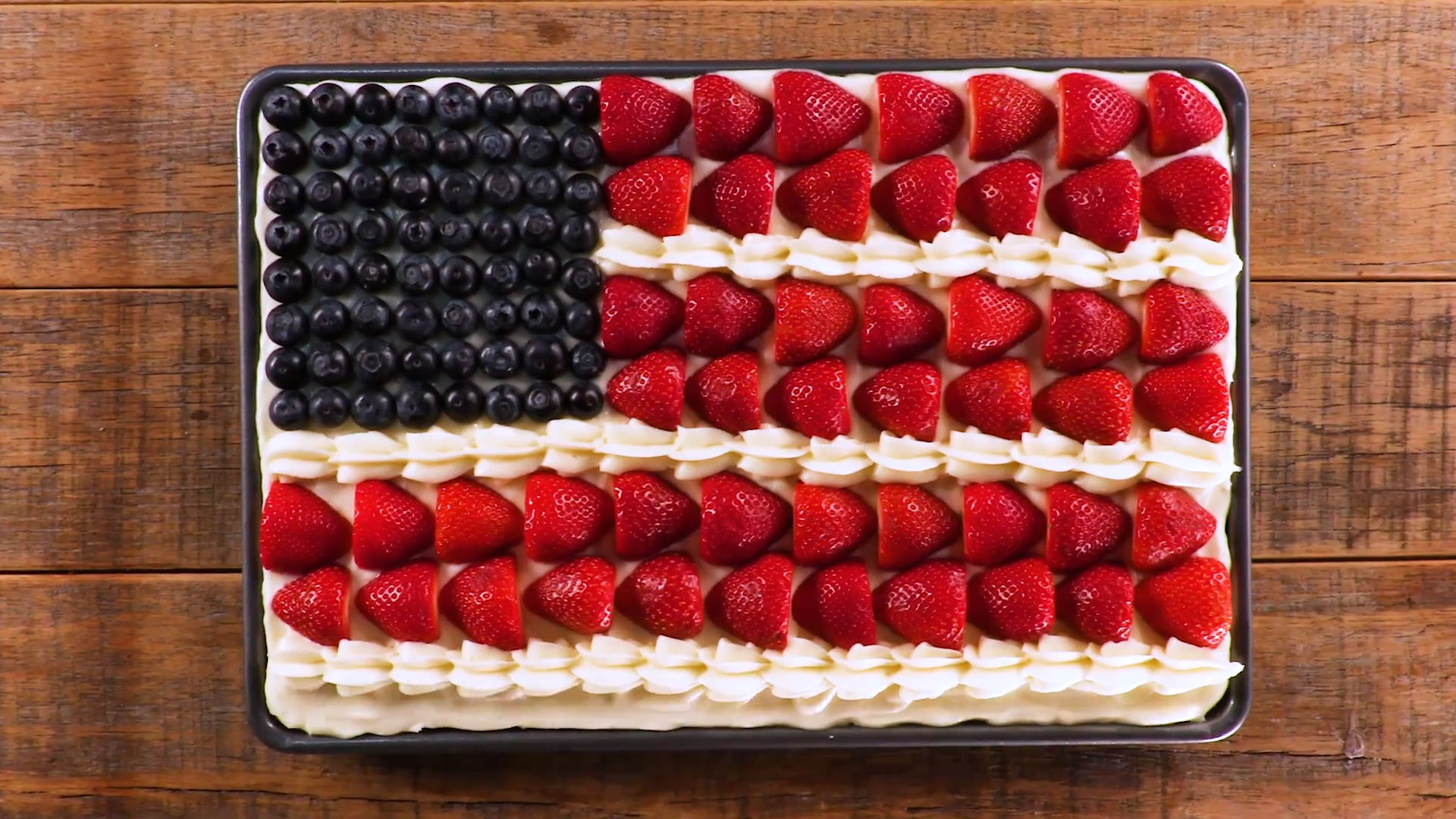 Sour Cream Flag Cake