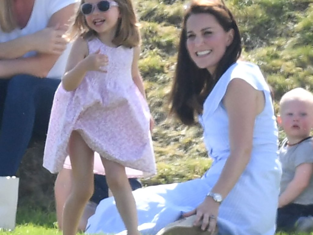 See Princess Charlotte and Prince George Adorably Cheer on Dad William at Polo! kate-middleton1