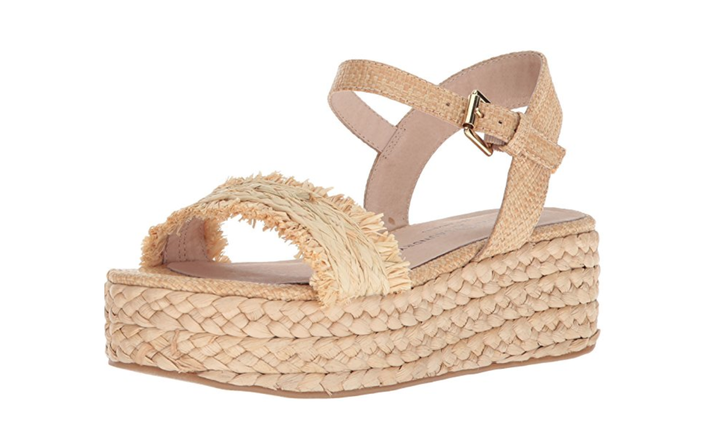 Beachy Straw Espadrille Wedge Sandals