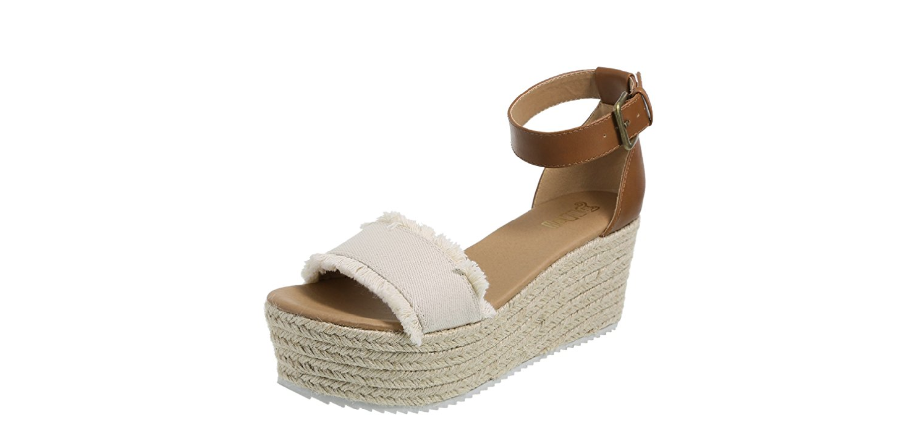 Neutral Platform Wedge Sandals