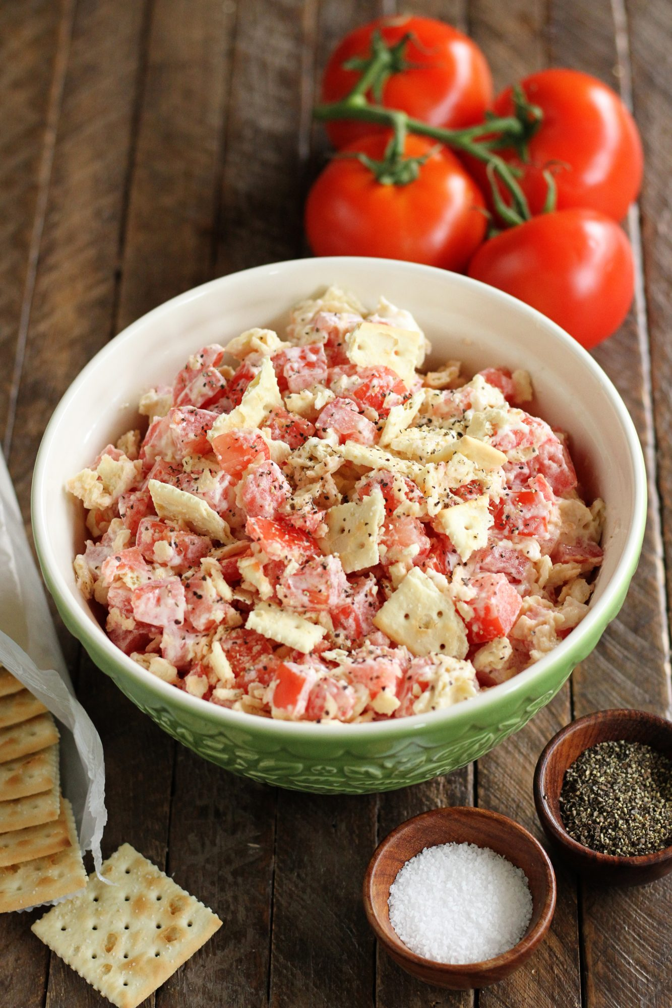 Tomato Cracker Salad from Southern Bite